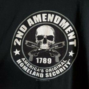 Shirt Long Sleeve 2nd amendment Skull Guns